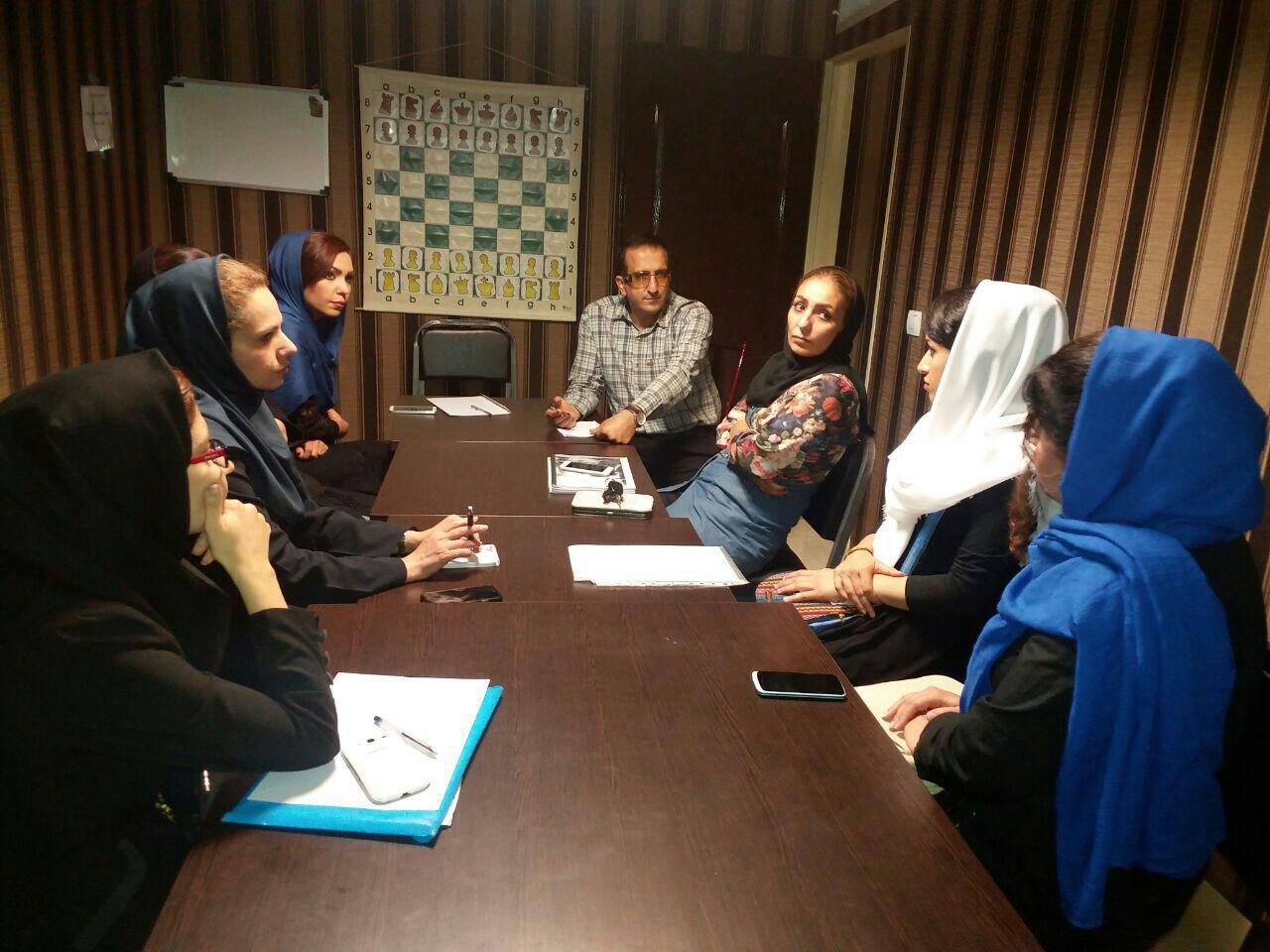 جلسه فصلی مربیان مدرسه هیئت شطرنج تهران