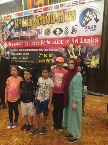تیم تهران در مسابقات مدارس آسیا