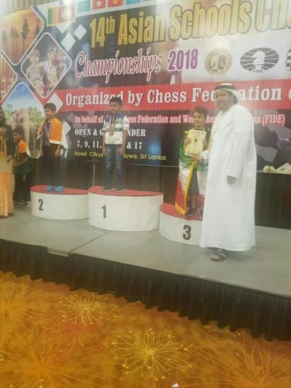 کسب سه مدال توسط بازیکنان استان تهران در مسابقات آسیایی مدارس آسیا