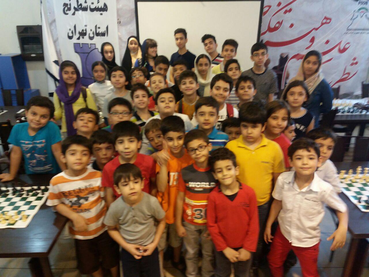 مسابقات پایان ترم مدرسه هیئت شطرنج استان تهران