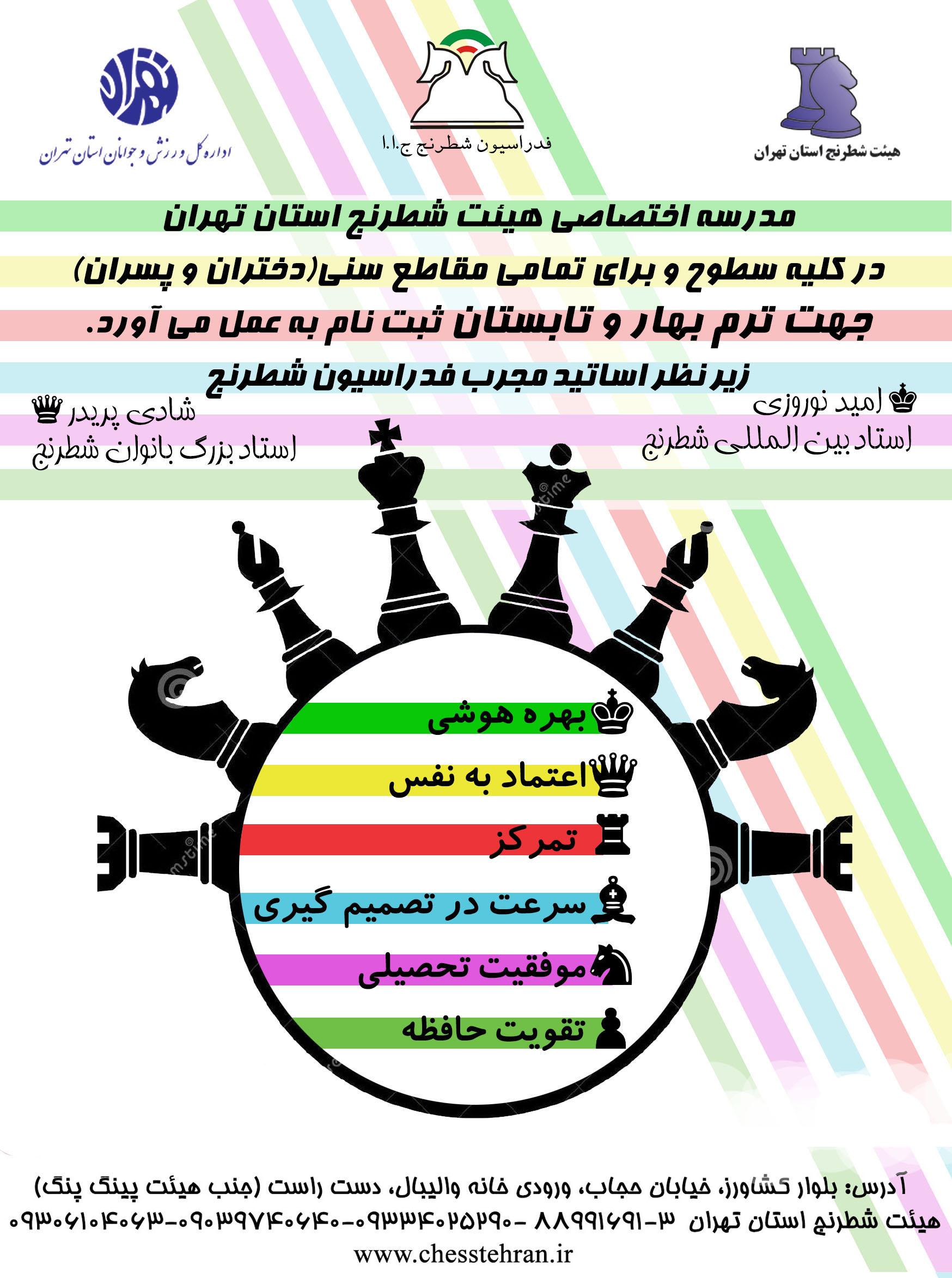 کلاس آموزشی هیئت شطرنج تهران